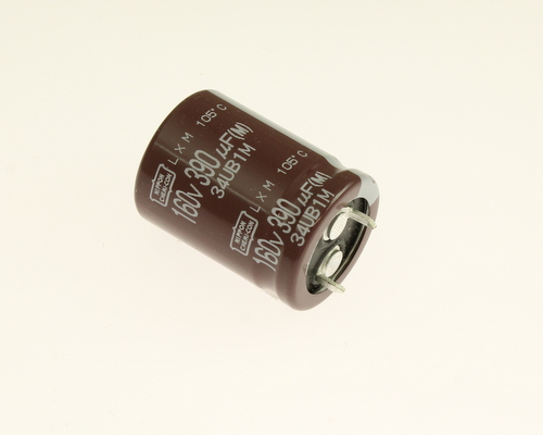 Picture of ELXM161VSN391MP30S UCC capacitor 390uF 160V Aluminum Electrolytic Snap In High Temp