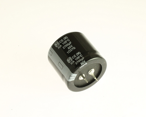 Picture of ECO-S1KA272EA PANASONIC capacitor 2,700uF 80V Aluminum Electrolytic Snap In High Temp