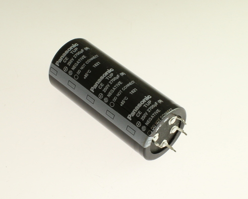 Picture of ECET2EP272EA PANASONIC capacitor 2,700uF 250V Aluminum Electrolytic Snap In