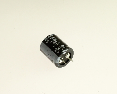 Picture of ECOS1HP272BA PANASONIC capacitor 2,700uF 50V Aluminum Electrolytic Snap In