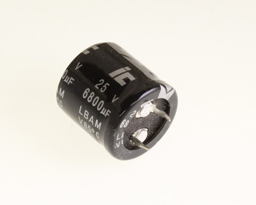 Picture of 688LBA025M2CC ILLINOIS CAPACITOR capacitor 6,800uF 25V Aluminum Electrolytic Snap In High Temp