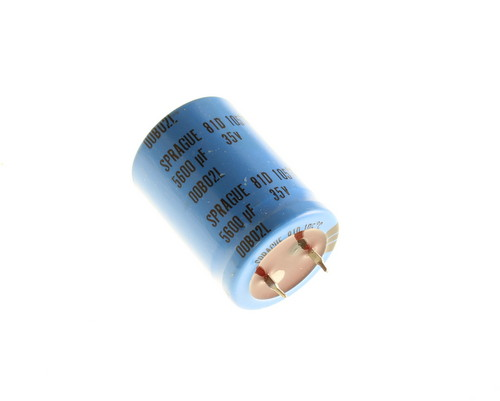 Picture of 81D562M035JC2D SPRAGUE capacitor 5,600uF 35V Aluminum Electrolytic Snap In High Temp