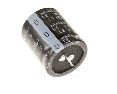 Picture of LLS1H123MELC Nichicon capacitor 12,000uF 50V Aluminum Electrolytic Snap In