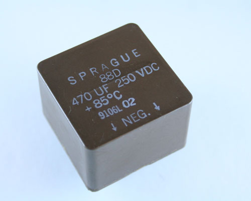 Picture of 88D477M250BB SPRAGUE capacitor 470uF 250V Aluminum Electrolytic Radial