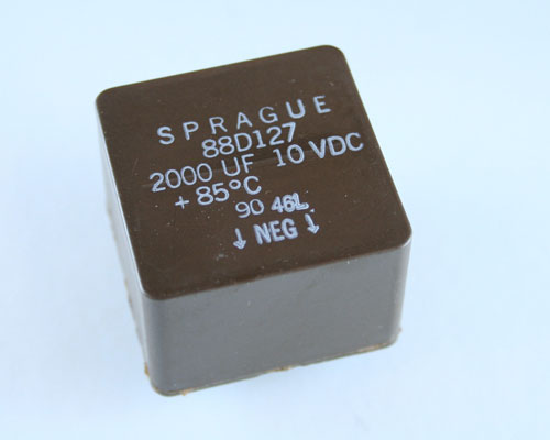 Picture of 88D202M010BB SPRAGUE capacitor 2,000uF 10V Aluminum Electrolytic Radial
