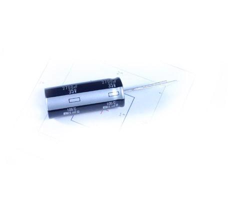 Picture of ECEA1VFQ272M PANASONIC capacitor 2,700uF 35V Aluminum Electrolytic Radial High Temp