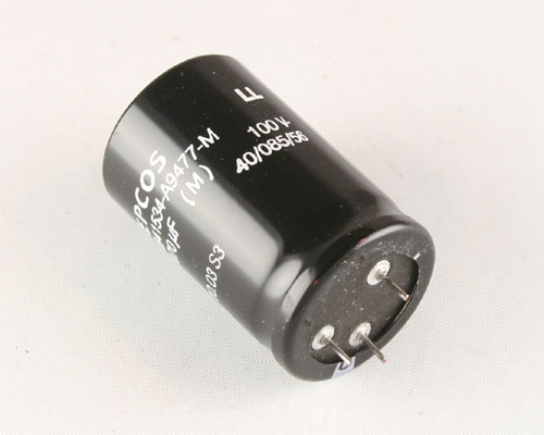 Picture of B41534A9477M EPCOS capacitor 470uF 100V Aluminum Electrolytic Radial