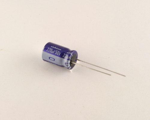 Picture of UVX1H221MCA NICHICON capacitor 220uF 50V Aluminum Electrolytic Radial
