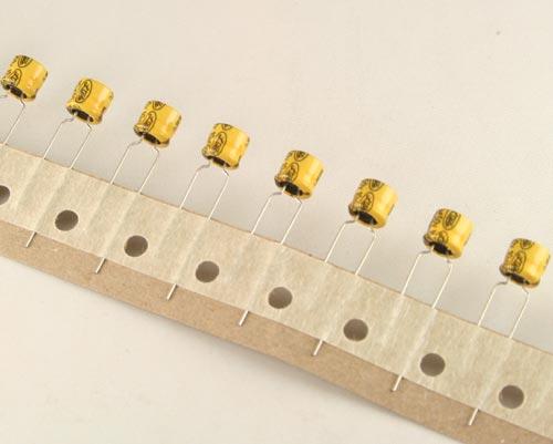 Picture of MSR1HM100C6.3X5 ELTEC capacitor 10uF 50V Aluminum Electrolytic Radial