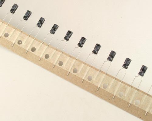 Picture of MSR1CM100C4X7 ELTEC capacitor 10uF 16V Aluminum Electrolytic Radial