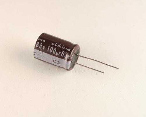 M NEW Lot of 100 Radial UEP1J101MHD Nichicon Capacitors 100uf 63v BP EP