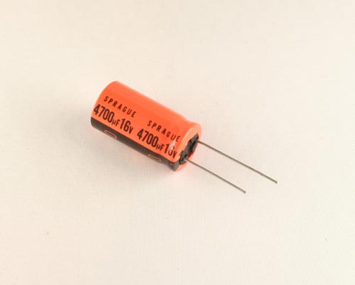 Picture of 515D478M016EN6A SPRAGUE capacitor 4,700uF 16V Aluminum Electrolytic Radial