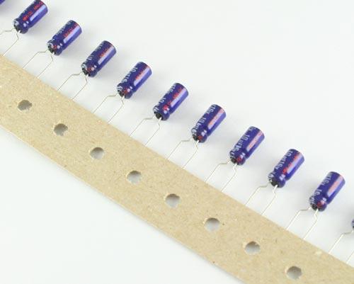 Picture of ECEA1CU100B PANASONIC capacitor 10uF 16V Aluminum Electrolytic Radial