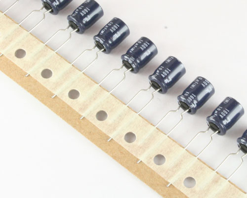 Picture of NRE-H100M160V8X11.5 NIC capacitor 10uF 160V Aluminum Electrolytic Radial