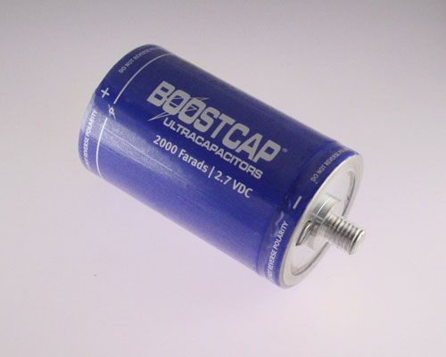 Picture of supercapacitor capacitors.