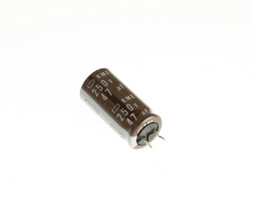 Picture of EKMX251EMC470MK25N UCC capacitor 47uF 250V Aluminum Electrolytic Radial High Temp