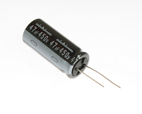 Picture of UVZ2W470MHD NICHICON capacitor 47uF 450V Aluminum Electrolytic Radial High Temp