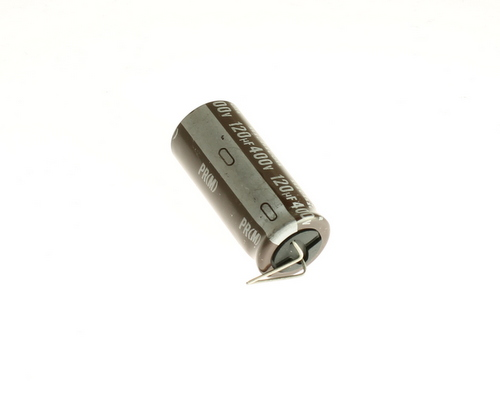 Picture of UPR2G121MHH3XL NICHICON capacitor 120uF 400V Aluminum Electrolytic Radial High Temp
