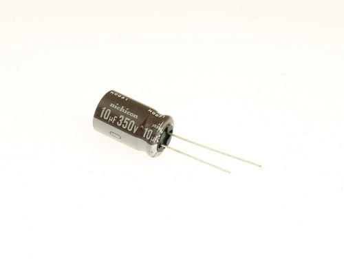 Picture of UPR2V100MHH NICHICON capacitor 10uF 350V Aluminum Electrolytic Radial High Temp
