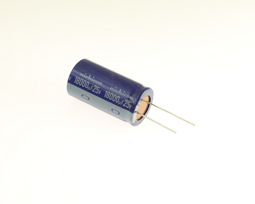 Picture of UVX1E183MRAA NICHICON capacitor 18,000uF 25V Aluminum Electrolytic Radial