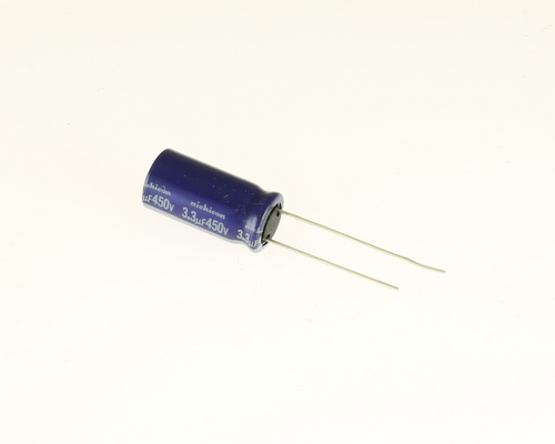 Picture of UVX2W3R3MPA NICHICON capacitor 3.3uF 450V Aluminum Electrolytic Radial
