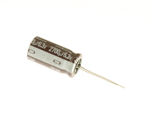Picture of UPF0J272MRH6 NICHICON capacitor 2,700uF 6.3V Aluminum Electrolytic Radial High Temp