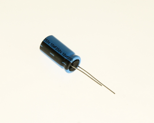 Picture of REA100M2VBK1020P LELON capacitor 10uF 350V Aluminum Electrolytic Radial