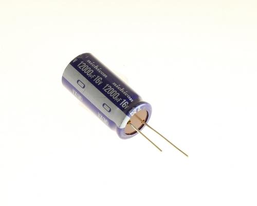 Picture of UVX1C123MRA NICHICON capacitor 12,000uF 16V Aluminum Electrolytic Radial