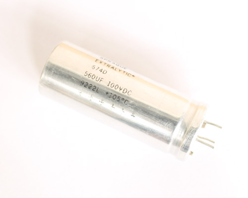 Picture of 674D567H100JP2A SPRAGUE capacitor 560uF 100V Aluminum Electrolytic Radial High Temp