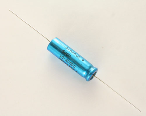 Picture of 500D106M300EH2A SPRAGUE capacitor 10uF 300V Aluminum Electrolytic Axial