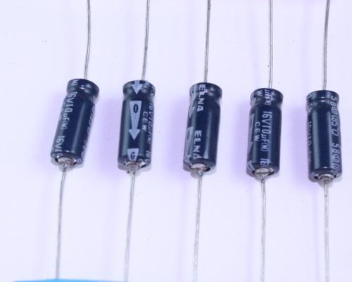 Picture of TE16V100MSTZ ELNA capacitor 10uF 16V Aluminum Electrolytic Axial