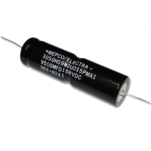Picture of 3050HS952U015PM1 PHILIPS capacitor 9,500uF 15V Aluminum Electrolytic Axial