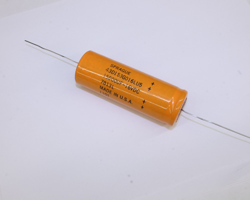 Picture of 43D153G016LU5 SPRAGUE capacitor 15,000uF 16V aluminum electrolytic axial