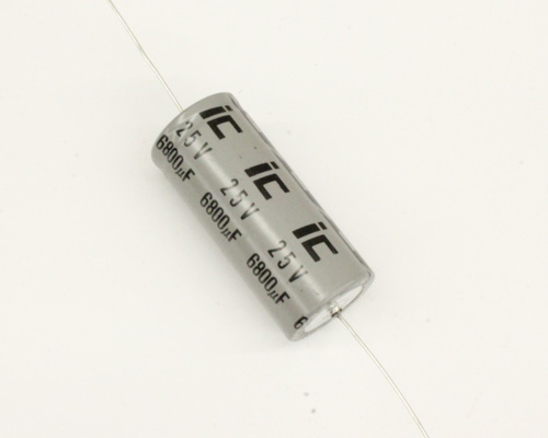 Picture of 688TTA025A ILLINOIS CAPACITOR capacitor 6,800uF 25V Aluminum Electrolytic Axial