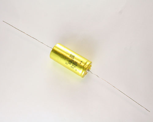 Picture of WBR160-250 CDE capacitor 160uF 250V Aluminum Electrolytic Axial