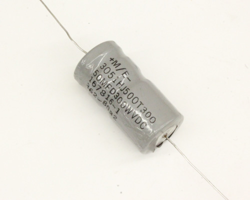Picture of 3051HJ500T300 PHILIPS capacitor 50uF 300V Aluminum Electrolytic Axial