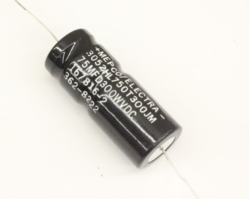 Picture of 3052HL750T300JM ME capacitor 75uF 300V Aluminum Electrolytic Axial