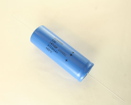 Picture of 53D142F200MD6 SPRAGUE capacitor 1,400uF 200V Aluminum Electrolytic Axial