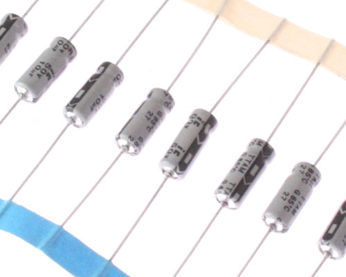 Picture of 106TTA050MSD ILLINOIS CAPACITOR capacitor 10uF 50V Aluminum Electrolytic Axial