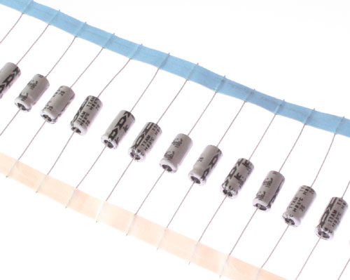 Picture of 107TTA010MSD ILLINOIS CAPACITOR capacitor 100uF 10V Aluminum Electrolytic Axial