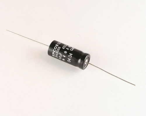 Picture of B43688S5685T1 EPCOS capacitor 6.8uF 450V Aluminum Electrolytic Axial