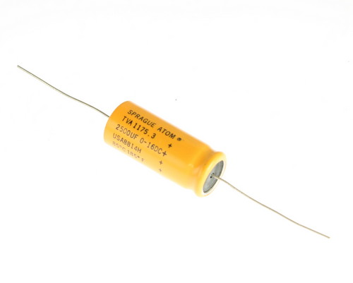 Picture of TVA1175.3 SPRAGUE capacitor 2,500uF 16V Aluminum Electrolytic Axial