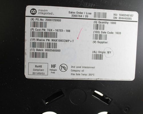 Picture of SR205A152GAA AVX capacitor 0.0015uF 50V Ceramic Monolithic Radial