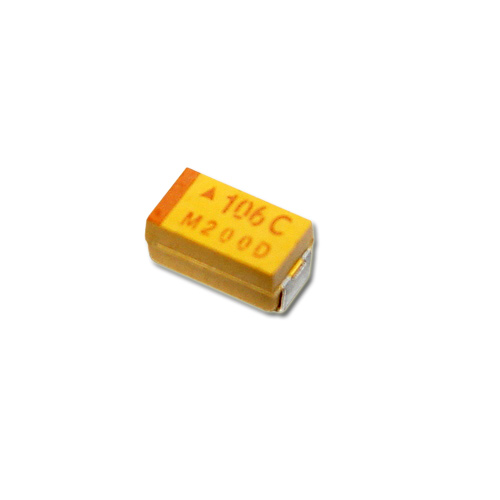 Picture of TAJC106J016R AVX capacitor 10uF 16V tantalum surface mount