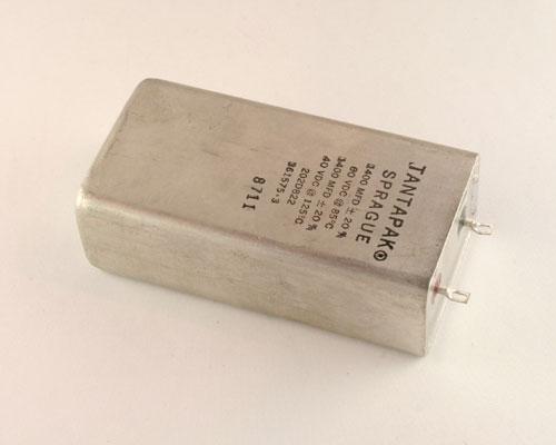 Picture of 202D822 SPRAGUE capacitor 1,400uF 60V Tantalum Wet Radial