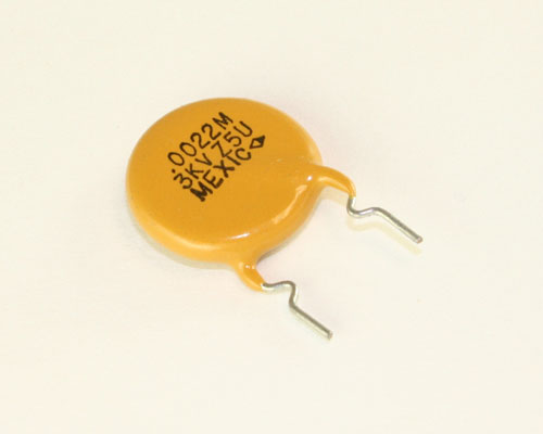 Picture of D222M63Z5URFHEM PHILIPS capacitor 0.002uF 3000V Ceramic Disc