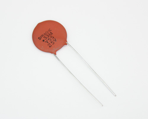 Picture of HY775 SPRAGUE capacitor 0.33uF 25V Ceramic Disc