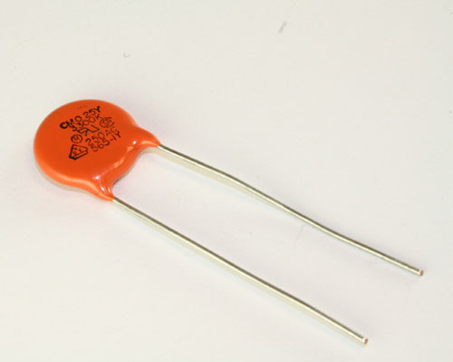 Picture of 25YTD33 Vishay / CERAMITE capacitor 0.0033uF 2500V Ceramic Disc