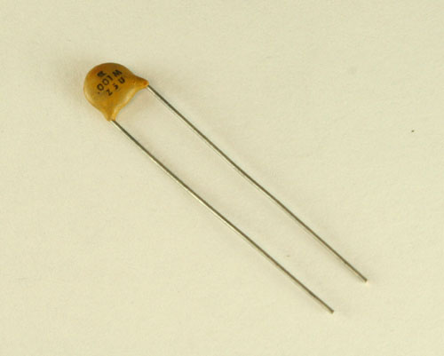 Picture of 100-1000V BYAB capacitor 100pF 1000V Ceramic Disc