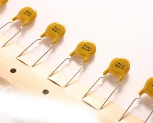 Picture of 620222MWGEA AVX capacitor 0.002uF 250V ceramic disc